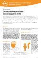 Das Informationsblatt 25 der DAlzG klärt über die seltene Demenzerkrankung CTE auf