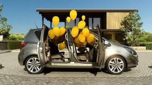 Der neue Opel Meriva im 3D-Format: Um die Vorteile der gegenläufig öffnenden FlexDoors plastisch zu verdeutlichen, wurde die Idee geboren, einen Werbefilm in 3D-Raumeffekt zu produzieren