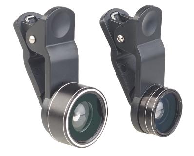 Somikon 3in1-Premium-Vorsatz-Linsen-Set CVL-163 mit Super-Weitwinkel, Makro, Fischauge