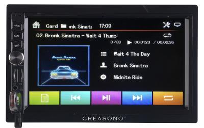 PX 2336 12 Creasono 2 DIN MP3 Autoradio mit Touchdisplay. Bluetooth und Freisprecher