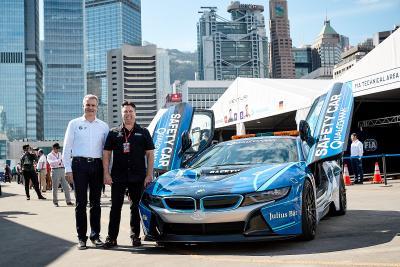 Formel E, Jens Marquardt, Michael Andretti, Qualcomm BMW i8 Safety Car, Hongkong