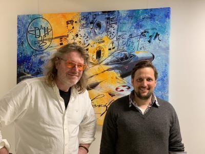 Künstler Bernd Luz mit Geschäftsführer des FFA-Museums Bernhard Vonier