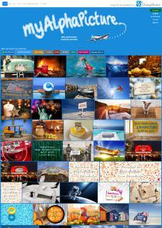 myAlphaPicture Hauptseiten-Screenshot