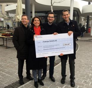 Von links: VAG Vorstand Stephan Bartosch, Staatssekretärin Rita Schwarzelühr-Sutter, Oberbürgermeister Martin Horn und VAG Vorstand Oliver Benz