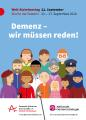 """Plakat zum WAT 2020 """"Demenz - wir müssen reden!"""""""