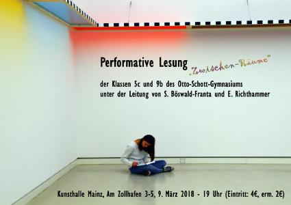 Performative Lesung des Otto-Schott-Gymnasiums am 09/03