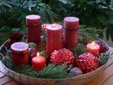 Dezemberträume mit Stumpen-Kerzen