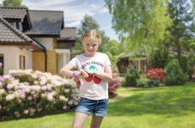 TrackerID Kinder-Smartwatch PW-130.kids mit GPS-/GSM-/WiFi-Tracking, SOS-Taste, rosa, IP65