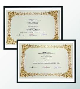Urkunden für die beste Leistung beim internationalen Wettbewerb zur Künstlichen Intelligenz