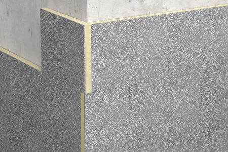 Die neue Fassadendämmplatte S 024 von Caparol: außen Dalmatiner, dazwischen Polyurethan. Foto: Caparol Farben Lacke Bautenschutz.