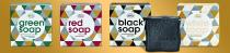 Green Soap, Red Soap, Black Soap und White Soap, Made by Speick