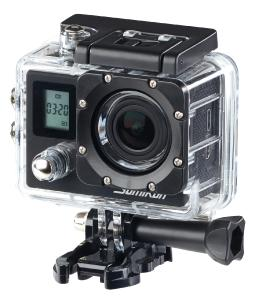 Somikon Einsteiger-4K-Action-Cam mit 2 Displays, Full HD bei 60 B./Sek., IP68 / Bezugsquelle: PEARL.GmbH
