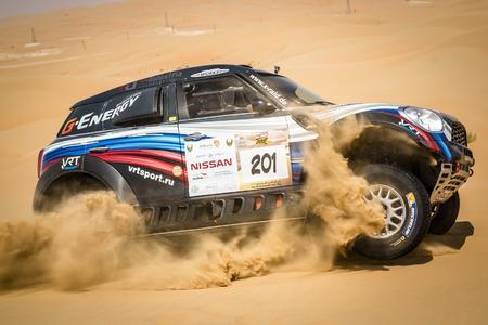 2015 Abu Dhabi Desert Challenge, Vladimir Vasilyev (RUS), Konstantin Zhiltsov (RUS) - MINI ALL4 Racing #201 VRT - 01.04.2015