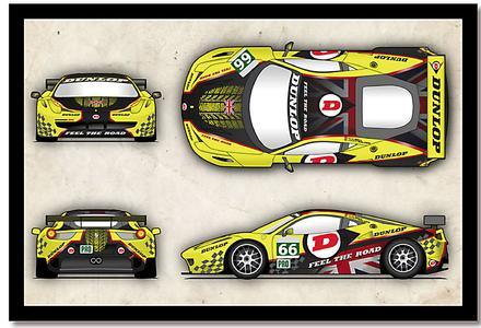 Dunlop Art Car Design