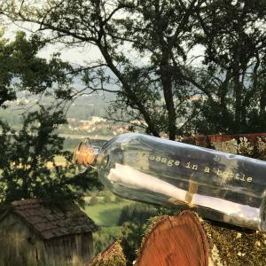 Manchmal muss es einfach per Flaschenpost gesagt werden.  www.ideas-in-boxes.de