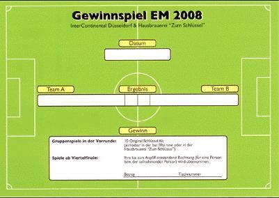 Bar Special Fußball-EM 2008