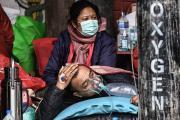 Sauerstoff-Versorgung von Covid-Patienten in Nepal.   Foto: (c) ECCA / action medeor