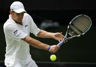 """Ein Tag in der Metropolregion Rhein-Neckar mit …"" Tennis-Star Andy Roddick am 18. Juni 2007 in Nußloch"