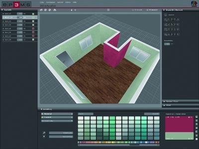 SPECTRUM 4.0 3Dstudio - Wenn Fotos fehlen: Im 3Dstudio lassen sich virtuelle Räume individuell konstruieren und mit Farben und Materialien gestalten