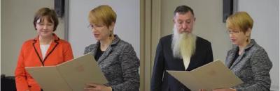 Wissenschaftsministerin Dr. Martina Münch überreichte die Urkunden