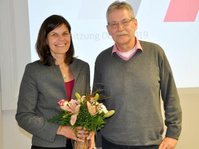 TH-Präsidentin Dr. Muriel Kim Helbig und der stellv. Senatsvorsitzende Prof. Dr. Stefan Bartels-von Mensenkampff, Foto: TH Lübeck