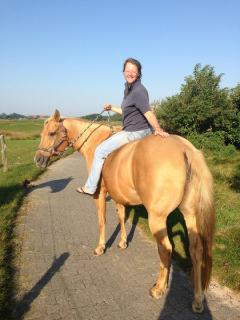 Michele Mesche auf dem Pferd