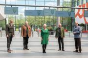 Vorhang auf für wildlife.fair: (v.l.n.r.) Peter Ottmann (CEO NürnbergMesse), Robert Pollner (Generalsekretär BJV), Petra Wolf (Mitglied der Geschäftsleitung NürnbergMesse), Ernst Weidenbusch (Präsident BJV), Dr. Roland Fleck (CEO NürnbergMesse)