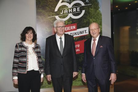 Ministerpräsident Winfried Kretschmann beim Jubiläumsempfang von WeberHaus.
