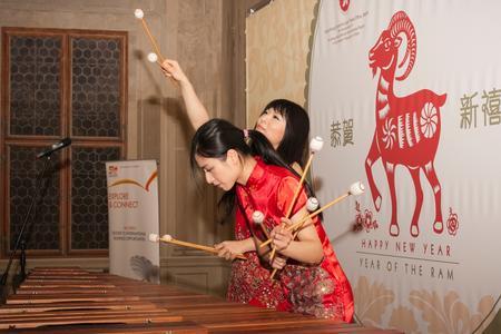 Kulturális performansz a HKETO Berlin kínai újév fogadásán Prágában, január 21-én