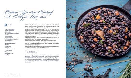 Cover: Glücksrezepte, Bohnen-Gemüse-Eintopf mit Orangen-Rosmarin