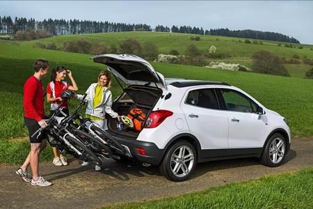 Spezieller, integrierter FlexFix-Fahrradträger für neuen Opel Mokka