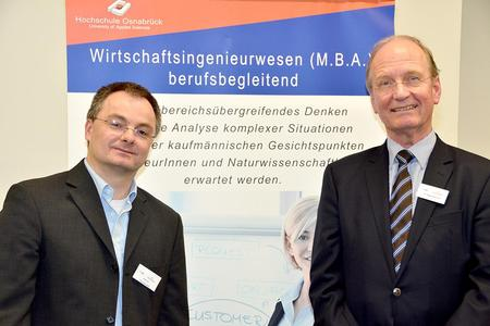 Studiengangsleiter Prof. Dr. Litfin (li) und Leiter der Professional School Dr. Gleisner (re) laden ein zu kostenlosen Infoveranstaltungen. Foto Litfin Gleisner
