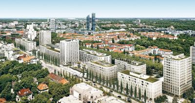 Firmensitz der Deutschen Finance Group am Schwabinger Tor in München
