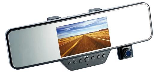 """NavGear FullHD-Rückspiegel-Dashcam, BT, G-Sensor, 4.3"""" TFT MDV-2300.rs"""