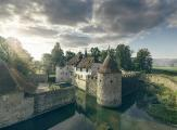 Blick auf Schloss Hallywl