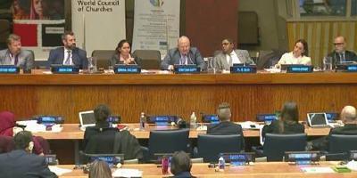 ADRA-Präsident Jonathan Duffy (oben, Mitte) auf dem FBO-Symposium © Foto: ADRA International/United Nations