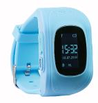 TrackerID Kinder-Smartwatch PW-110.kids mit Telefon- & SOS-Funktion, GPS-/LBS-Tracking, blau