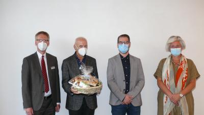 von rechts nach links: Stefanie Krüger, Martin Girke, Jürgen Hollick, Dr. Stefan Raueiser