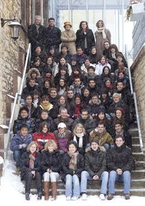 Erlebten einen richtigen Winter auf dem Caprivicampus: Die 57 Sprachkursteilnehmer