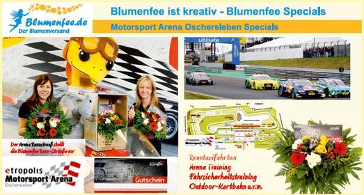 Blumenfee Blumenversand Motorsport Arena Oschersleben Kooperation