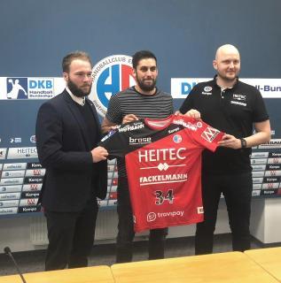 Quentin Minel verstärkt ab nächster Saison den HC Erlangen / (Ricco Wolf, HC Erlangen)