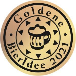 """Das Logo der """"Goldenen BierIdee 2021"""""""