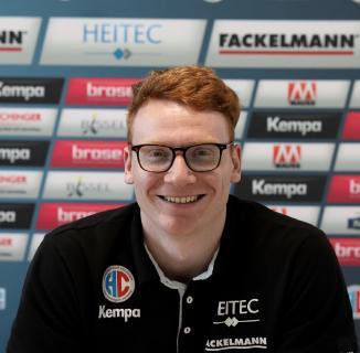 HC Erlangen-Spieler Nicolai Therilinger freut sich auf die Rhein-Neckar Löwen (Foto: HJKrieg, Erlangen)