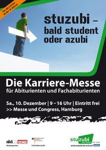 """Karrieremesse """"Stuzubi - bald Student oder Azubi"""" erstmals in Hamburg"""