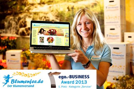 Blumenfee - ego.-BUSINESS Award 2013 in der Kategorie Service