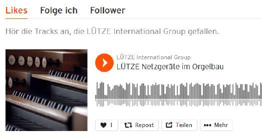 Podcast: LÜTZE Netzgeräte im Orgelbau