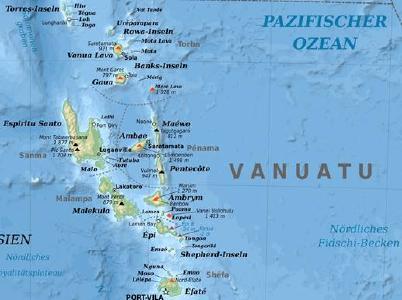 Inselrepublik Vanuatu © Grafik: Eric Gaba/Wikimedia Commons