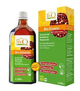 livQ Bio-Essenz Camu-Camu Fermentierte Naturkost mit Vitamin C für Energie, Immunkraft und Psyche