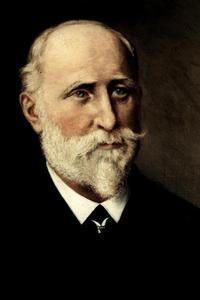 Firmengründer Adam Opel (1837-1895) / Nach mehrjähriger Wanderschaft durch die europäischen Nachbarländer, kehrte Opel im August 1862 nach Rüsselsheim zurück und begann in der väterlichen Schlosserwerkstatt mit dem Bau von Nähmaschinen