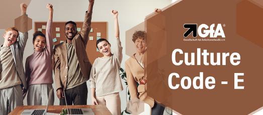 Banner zur englischsprachigen Veranstaltung von Culture Code.